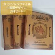 Pokemon Card Collection Files Old Calligraphy3 Books Lot With Refill