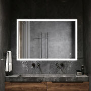 Bathroom Wall Mounted Led Illuminated Makeup Vanity Mirror W/bluetooth And Touch