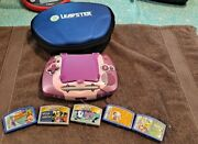 Leapfrog Leapster Learning Game System Pink With 5 Game Cartridges
