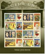 4905b Vintage Circus Posters Imperf Pane Of 16 No Die Cuts Ndc Forever