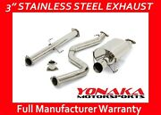 Yonaka Catback Exhaust For 92-00 Honda Civic 2dr 4dr 3 Stainless Steel System