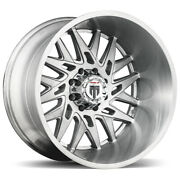 4-american Truxx At184 Dna 22x12 5x5 -44mm Brushed Wheels Rims 22 Inch