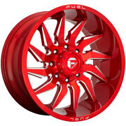 4-fuel D745 Saber 20x10 6x135 -18mm Red/milled Wheels Rims 20 Inch