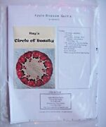 Apple Blossom Quilt Pattern Kayand039s Circle Of Beauty 22 1/2 Circular Table Topper
