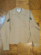 Usmc Womenand039s Dress/service Blouse 10 Reg With Corporal Chevrons