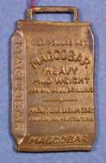 Magcobar Heavy Mud Weight Oil/well Drilling Brass Vintage Watch Fob Slf1a4-1