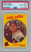 1959 Topps 27 Andy Pafko Braves Psa 8.5 9