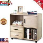 Modern Home Storage Shelves Office Cabinets With 2 Drawers Wood File Cabinet