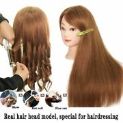 Mannequin Head Natural 80 Human Hair Used For Practicing Hair Style