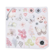 1x Flower Bird Patches For Clothes Iron-on Transfers Easy Print Diy Appliques_js