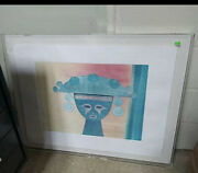 Lylia Forero Carr And039sinu Candrsquo Exhibition Framed Signed 20th C. Art Decor Waterc