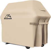 Grill Cover Waterproof Bbq Cover 600d Heavy Duty Gas Outdoor 60 Inch Beige New