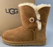 Ugg Bailey Button Short Ii With Suede Boots Kids 4 Fits Women Us6 180