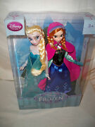 Disney Frozen Exclusive 12 Inch Doll 2-pack Anna And Elsa Nrfb Authentic Nrfb Htf