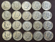 Roll 20 Coins 0f 40 Silver Kennedy Half Dollars 10 Face Value