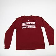Presbyterian College Adidas Climalite Long Sleeve Shirt Menand039s Maroon Used