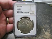 1927 Us Peace Silver Dollar Ngc Ms 63 Uncirculated Condition