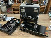 Vintage All Original 221-1 Singer Featherwieght Sewing Machine W/ Case Working