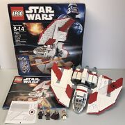 Lego 7931 Star Wars Jedi T-6 Shuttle 100 Complete W/ Manual Minifigures And Box