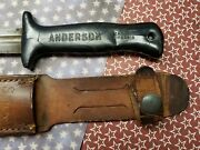 Original Wwii Us Army Anderson Fighting Knife And Original Scabbard