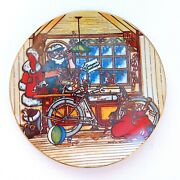 Ltd Harley Davidson Collectible Christmas Decorative Plate 1984 1st In Series