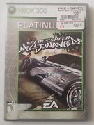 Need For Speed Most Wanted Not For Resale Xbox 360 2005 Complete Platinum Case