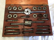 Vintage Blue Point Tap And Die Set By Snap On-used In Wood Box