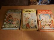Antique 1950's Collector's Whitman Children's Classic Books Blue, Yellow And Red