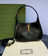 Jackie 1961 Small Shoulder Bag Black Leather For Women Pre Owned