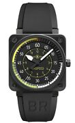Bell And Ross Br01-92-sas Airspeed 46mm Menandrsquos Automatic Pvd Watch Bandp 2017