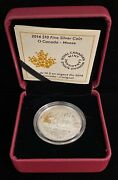 2014 O Canada 10 The Moose Pure Silver Matte Proof Coin With Box And Coa