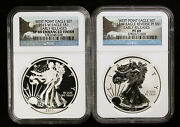 2013 W Silver Eagle Two Coin Set Enhanced And Reverse Proof Ngc Pf 69 And Sp 69 Er