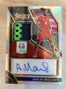 Ashley Williams - 2020 Euro Select Soccer Silver Prizm Patch Auto /75 Wales...