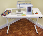 Heavy Duty Sewing Table On Wheels By Arrow To Fit Elna 6005 Heirloom Edition