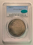 1881-s Pcgs Ms65 Morgan Dollar With Cac Sticker - Fantastic Toning