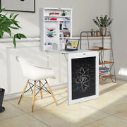 Wall Mounted Table Convertible Desk Fold Out Space Saver Chalkboard Decoration