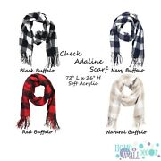 Buffalo Check Monogrammed Scarf, Personalized Scarf, Buffalo Check Scarf