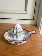 Rare Sweet Floral Vintage Hand Painted Japan Nippon China Juicer Reamer Pour