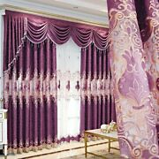 Embroidered Curtains Window Tulle Valances European Style Home Woven Decorations