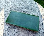 Vintage Grueby Pottery Tile Watermelon Green Arts And Crafts Tile 3x6