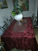 Black Antique Dinner Table With 4 Chairs