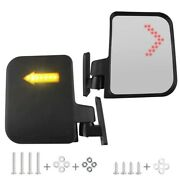 Golf Cart Mirror - Rear View For Club Car 20cm20cm Universal And Led Indicators
