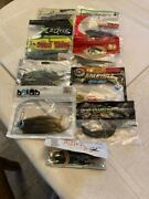 Lot Of 11 Bags Soft Plastic Fishing Lures.