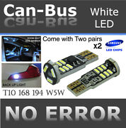 4 Piece T10 White 15 Led Samsung Chip Canbus Under Mirror Lamps Plug And Play U856