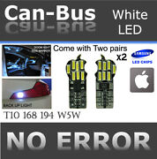 4 Piece T10 White 14 Led Samsung Chip Canbus Under Mirror Lamps Plug And Play O668