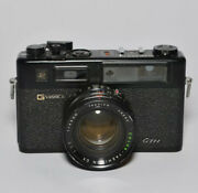 Yashica G Electro Gtn Black Paint 35mm Film Rangefinder - Tested For Repair Usa