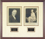 Herbert Clark Hoover - Collection Co-signed With Lou Henry Hoover