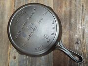 Griswold Victor 8, 10 Cast Iron Skillet, Fully Marked 722, Restored