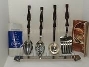 Vintage Nos Cutco 4-piece Kitchen Utensil Set W/ Utensil Rack And Use/care Guide