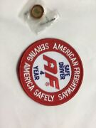 American Freightways Safe Driver Award Embroidered Patch And Pin, Year 4